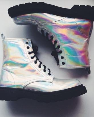shoes boots shiny metallic shoes