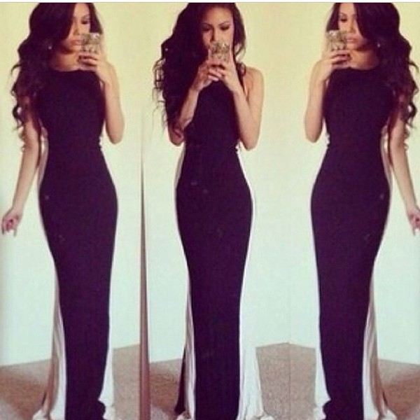black and white black white long dress maxi dress dress