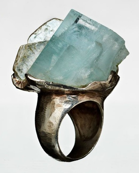 jewels stone rustic teal ring hammered