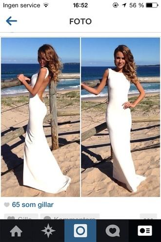 dress white dress open back