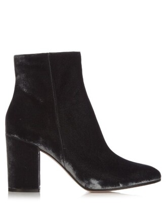 boots ankle boots velvet ankle boots velvet dark grey shoes
