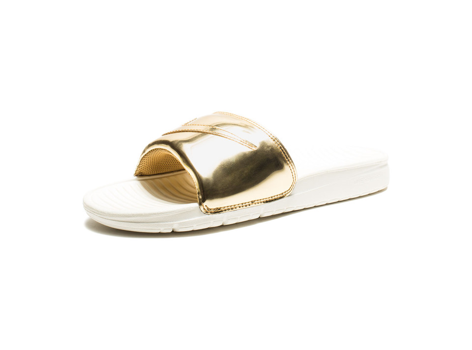 NIKE BENASSI SOLARSOFT SLIDE LIQUID METAL PACK SP - METALLIC GOLD | Undefeated