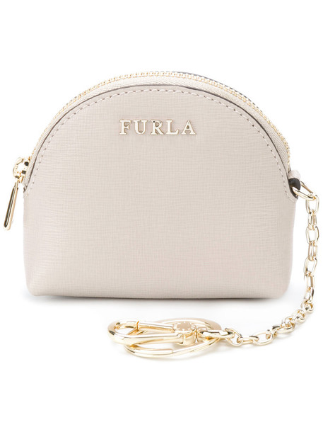 Furla women purse leather nude bag