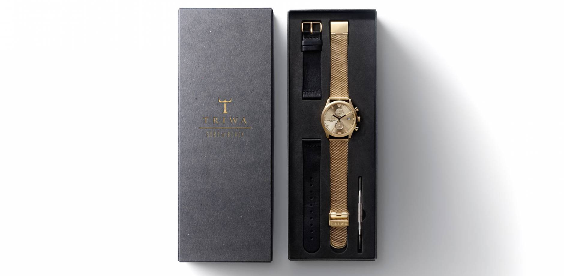 TRIWA - Sort of Black Gold Chrono