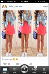 bag,jacket,blouse,shoes,shirt,shorts,skirt,tank top,dress,skater skirt,pink,pink skirt,crop tops,t-shirt,sweater,jeans,denim,outfit,summer,neon,orange,white,jewels,denim jacket,coral beautiful skirt pretty want this short love,spring,skater,full-length,pink dress,peach skirt,lace,coral skirt,lacey blouse,selfie,purse,cute,fashion,blue,converse,all-star,clothes,wetseal.com,coat,girly,top,tumblrlook,demon jacket,demin,coral,short,white top,summer skirt,summer skirts,short skirt,lace crop top,pink skater skirt,high waisted skirt,jean jackets,feminine,white lace crop top,high waisted skater skirtt,belt,coral skater skirt,where to get the skirt,white crop tops,target,pink short skirt,white lace top