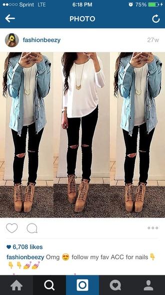 blouse white blouse shirt jacket
