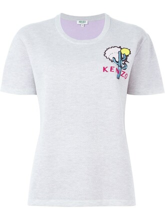 top embroidered cactus grey