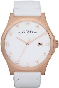 Store display marc jacobs mbm1212 women's unisex men's henry white watch