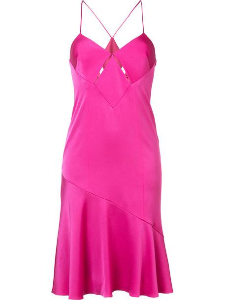 Galvan dress women purple pink