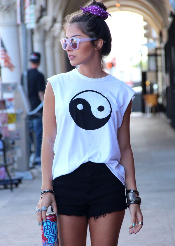 Yin Yang Tank Top Black And White Shirt Unisex Men