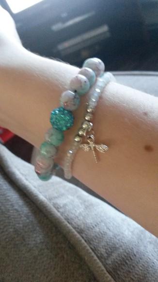 jewels bracelets silver jewelry turquoise turquoise jewelry shamballa bracelet gems beads dragon fly