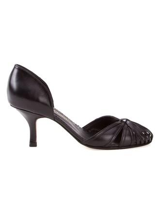 heel women pumps black shoes