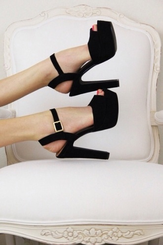 shoes square cool style high heels black heels
