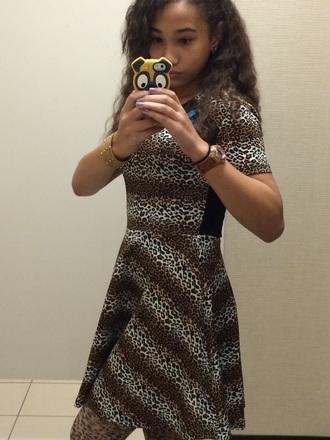 dress cheeta print short
