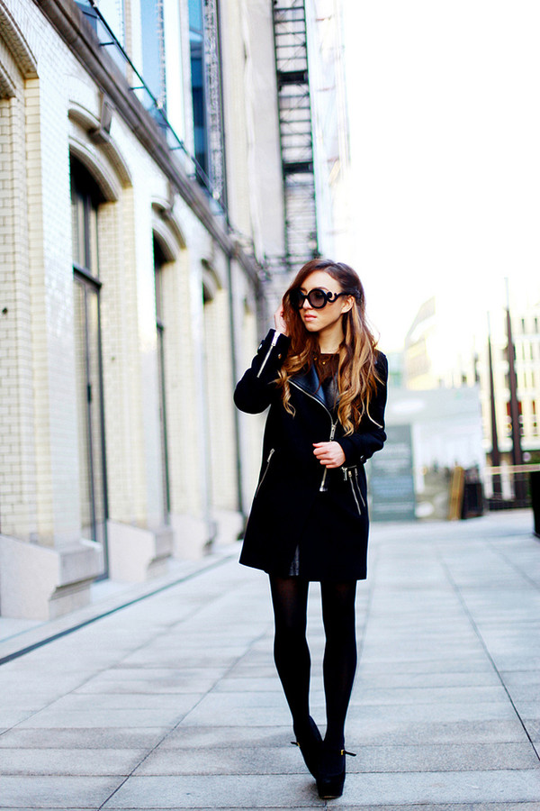 flirting with fashion coat shirt skirt shoes bag sunglasses jewels