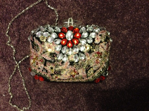 bag bag crystal clutch lace fashion purse