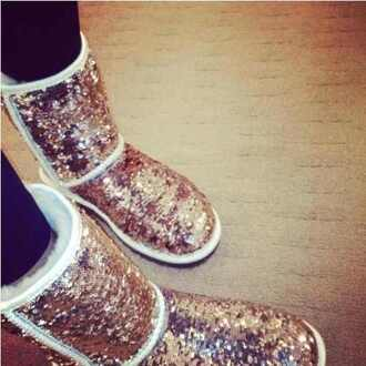 shoes boots ugg boots sparkly glitter boots