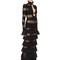 Ruffled silk & lurex knit dress