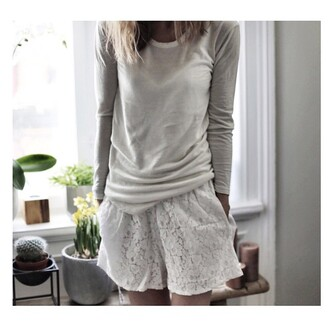 pajamas white shirt white short girly