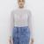 ANOLIE Acid Wash Zippered Denim Mini Skirt at FLYJANE