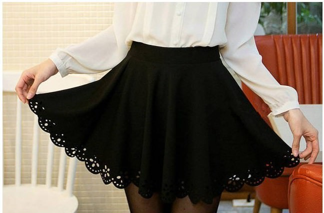 High waist large swing sun umbrella skirt