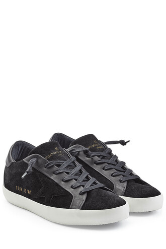 sneakers. sneakers leather suede black shoes