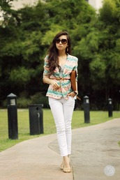 kryzuy,sunglasses,jacket,tank top,jeans,jewels,bag