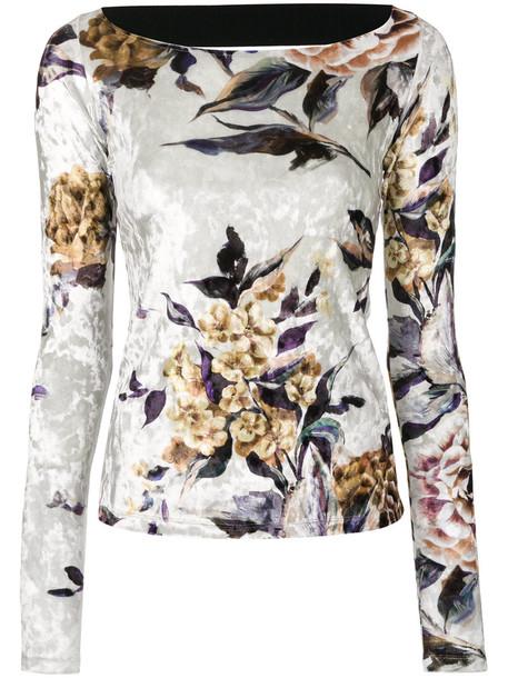 Mm6 Maison Margiela sweater patterned sweater women spandex floral