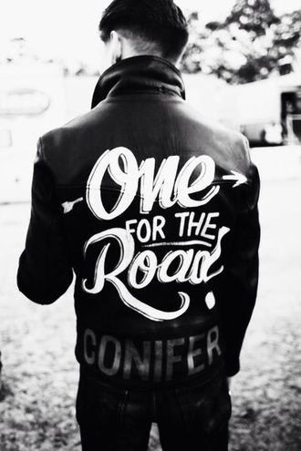 jacket leader one for the road arctic monkeys menswear leather jacket rock alex turner