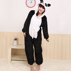 Lovely Panda Adult KIGURUMI Pajamas Pyjamas Hoodies Costume Cosplay Sleepwear | eBay