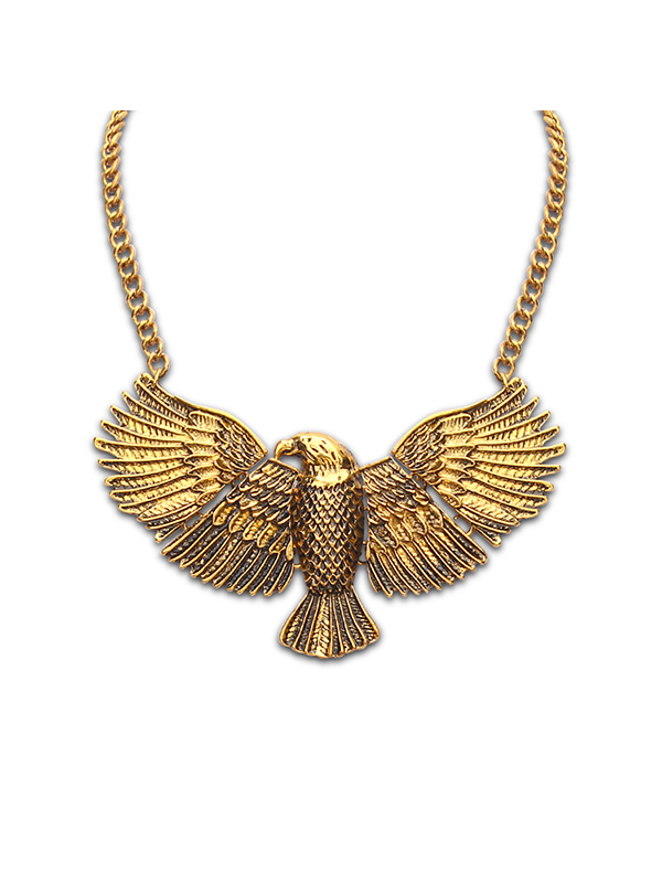 Retro Eagle Alloy Chain Necklace : KissChic.com