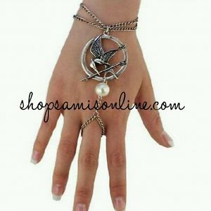The Hunger Games Catching Fire Mockingjay Katniss Ring Bracelet Silver Only | eBay