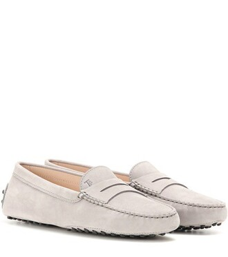 loafers suede grey shoes