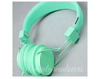 earphones mint headphones