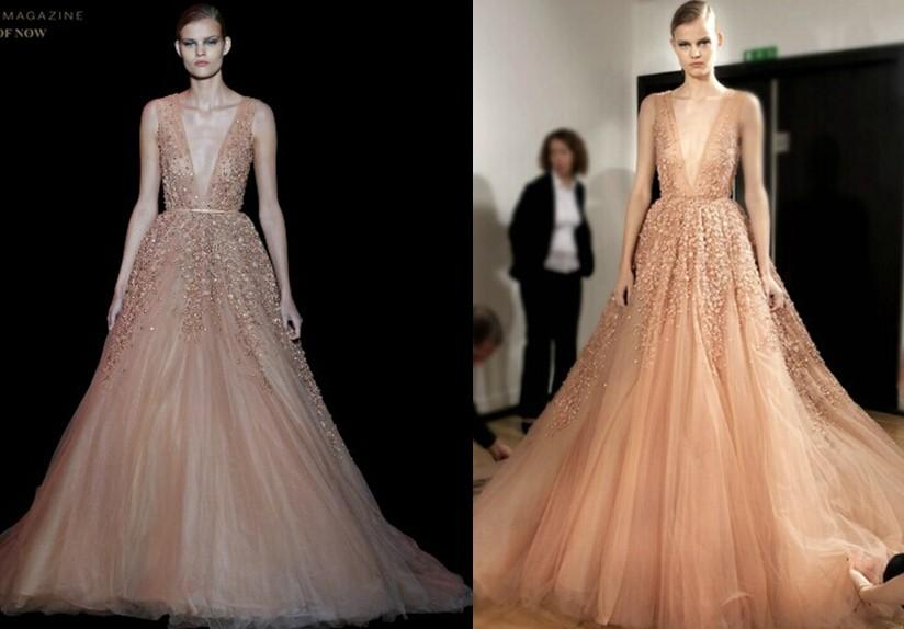 Cheap 2015 Prom Gowns - Discount Elie Saab 2015 Sheer Evening ...