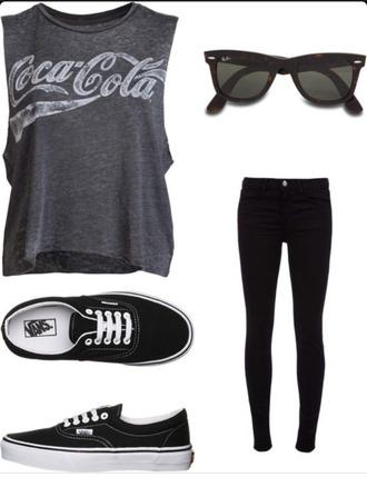 shirt coca cola grey shirt
