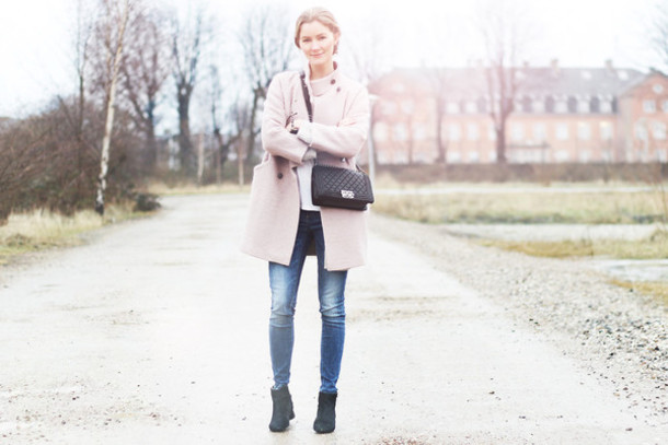 passions for fashion blogger jeans winter coat coat t-shirt shoes bag