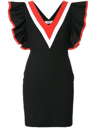 dress women spandex cotton black