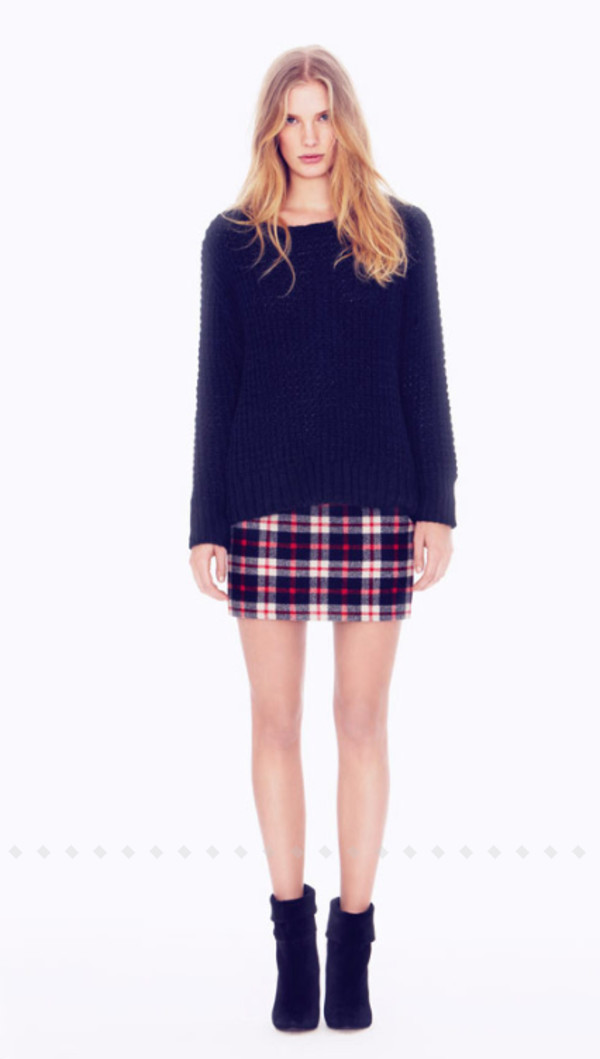 sweater ba&sh fashion lookbook skirt