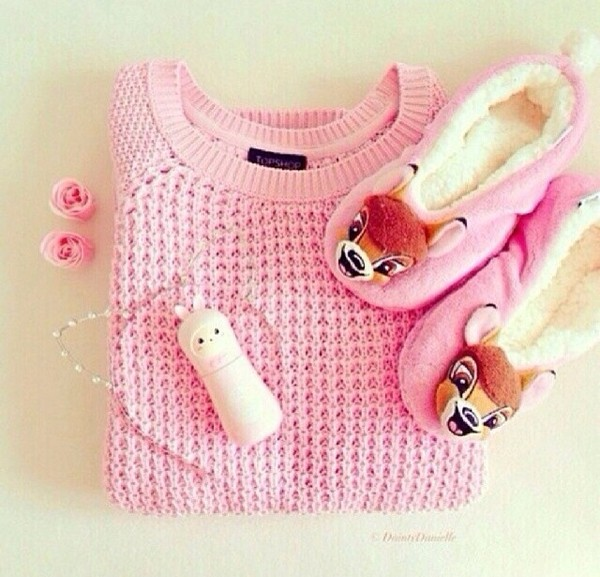 sweater pullover pink fluo pink shoes
