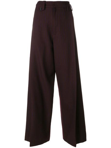 GOLDEN GOOSE DELUXE BRAND women mohair wool red pants