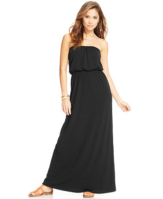 32ded2a04b0 Trixxi Juniors  Strapless Maxi Dress - Juniors Dresses - Macy s