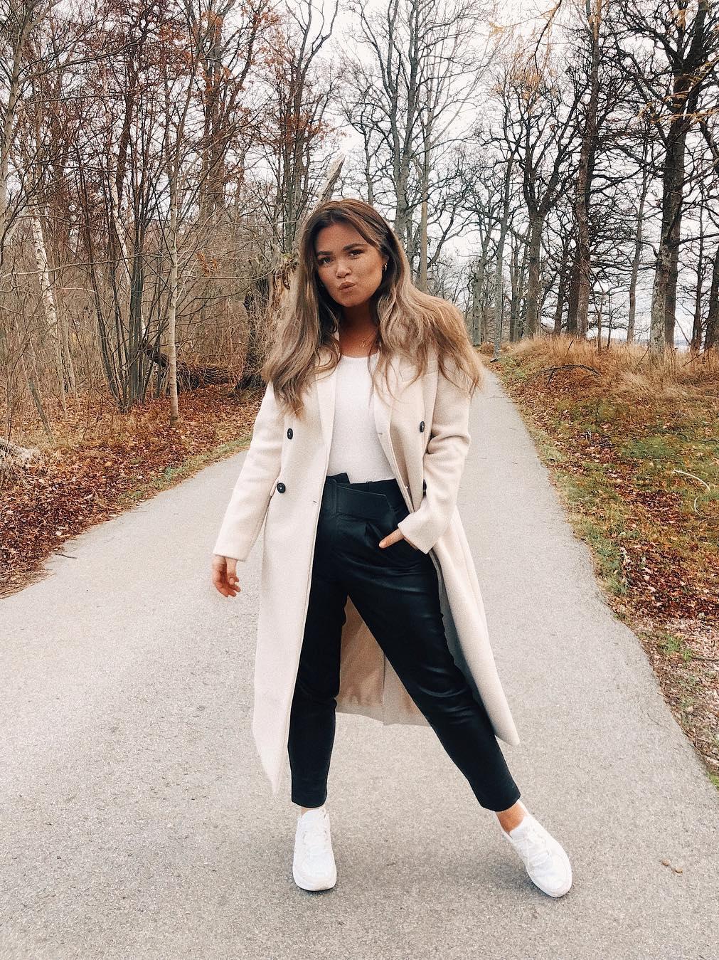 Loavies long white coat | Fashion Webshop LOAVIES