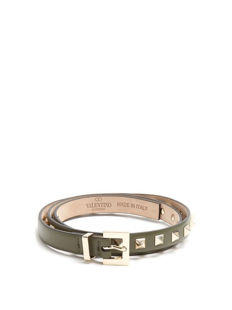 Valentino belt leather green
