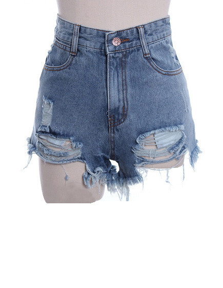 High Waist Frayed Hotpants   Outfit Made