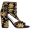 Laurence dacade - rush sandals - women - leather/suede/polyester - 36, black, leather/suede/polyester