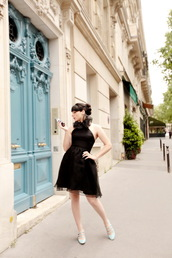 the cherry blossom girl,blogger,dress,shoes