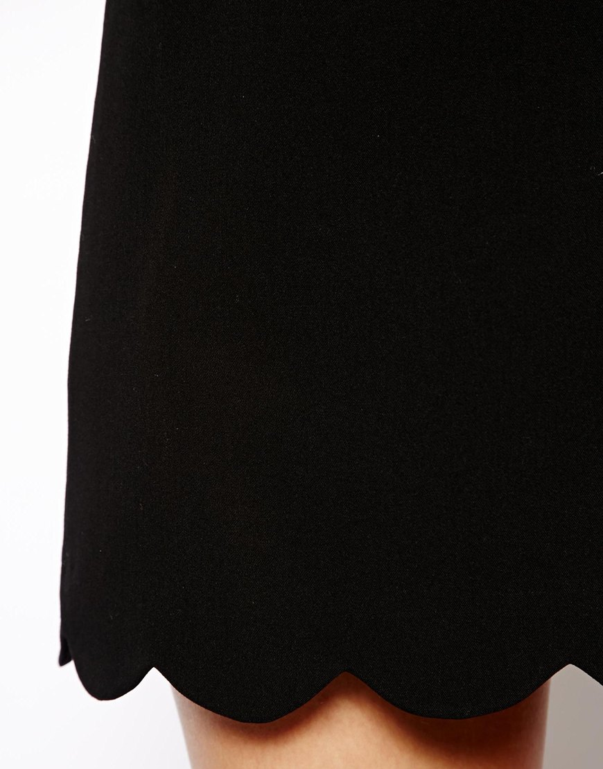 ASOS Mini Skirt with Scallop Hem at asos.com