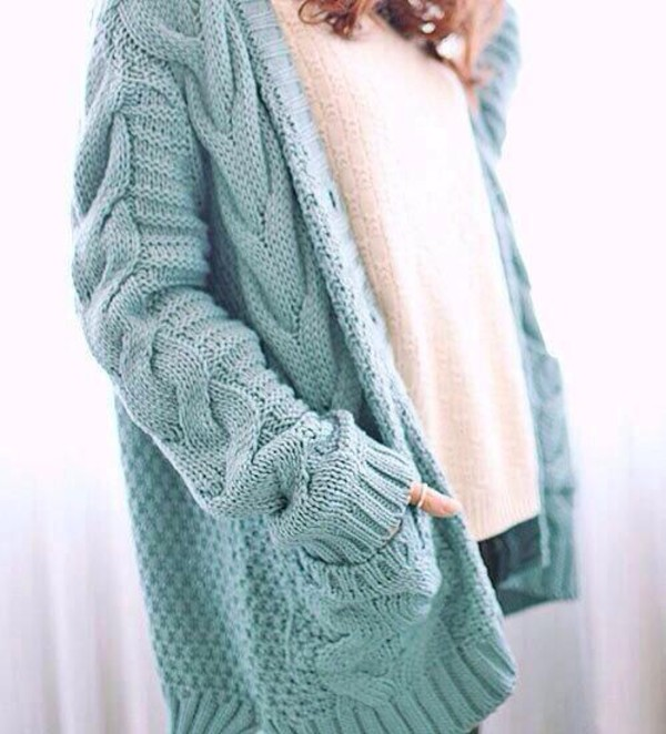 cardigan light blue
