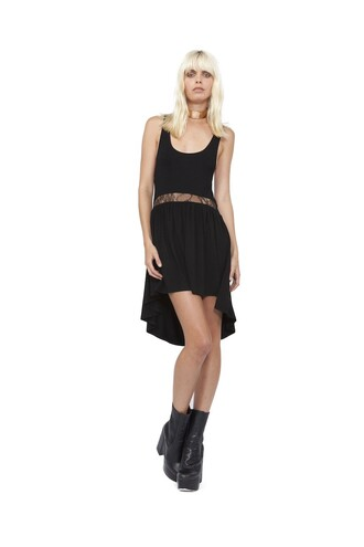 dress black dress asymmetrical high low